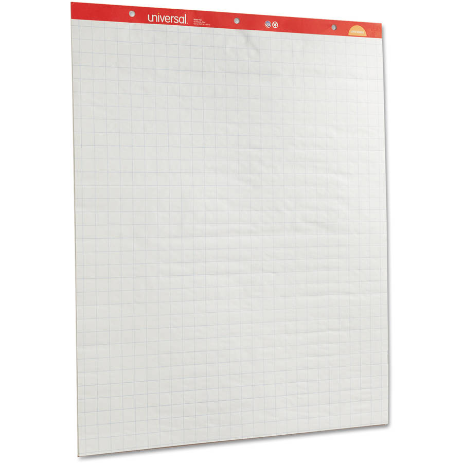 """Universal Recycled Easel Pads, Quadrille Rule, 27"""" x 34"""", White, 50-Sheet 2 per Carton"""