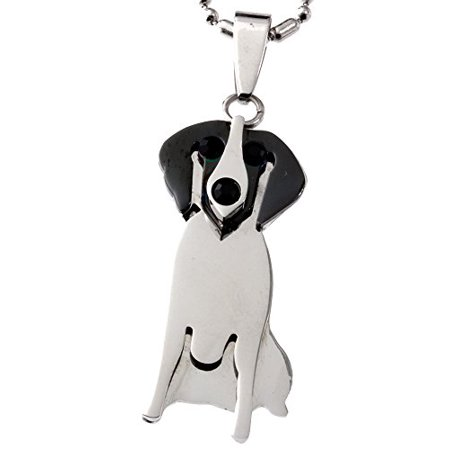 Sterling Silver Beagle Dog Charm (R.H. Jewelry Stainless Steel Pendant, Beagle Dog Lover Pendant)
