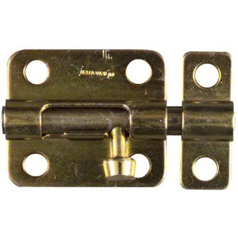 "Brass Finish 2-1/2"" Barrel Bolt Door Window National Cabinet Latches N227-322"