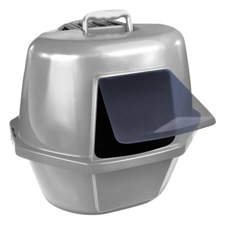 Van Ness Corner Enclosed Cat Pan Silver (Enclosed Cat Pan)