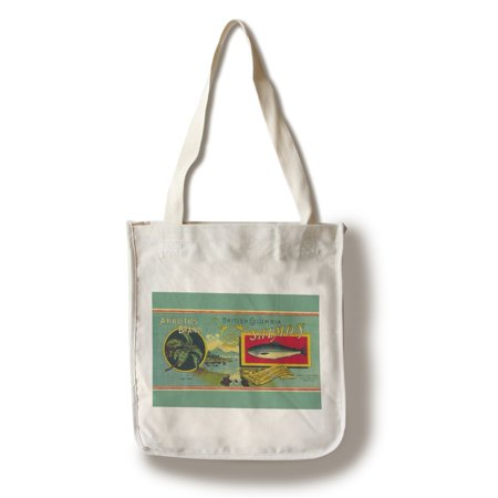 Arbutus Salmon Can Label (100% Cotton Tote Bag - - Bag Labels