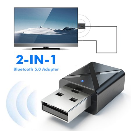 2 in 1 USB Bluetooth 5.0 Transmitter Receiver AUX Audio Adapter for
