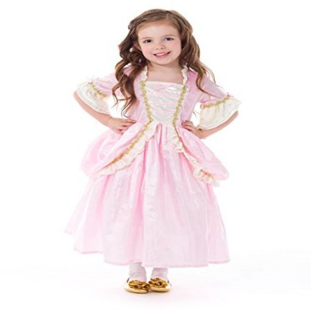 Little Adventures Traditional Pink Parisian Girls Princess Costume - Medium (3-5 Yrs) (Traditional Irish Costume)
