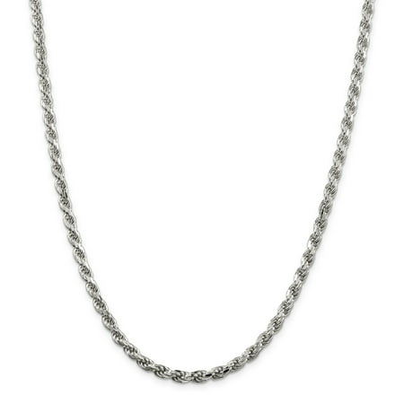 925 Sterling Silver 4.75mm Diamond-cut Rope Chain 20 Inch - image 5 of 5
