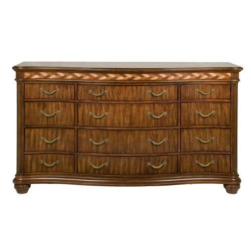 Alpine Furniture Lafayette with Braided Veneer Accent Border 12 Drawer Dresser