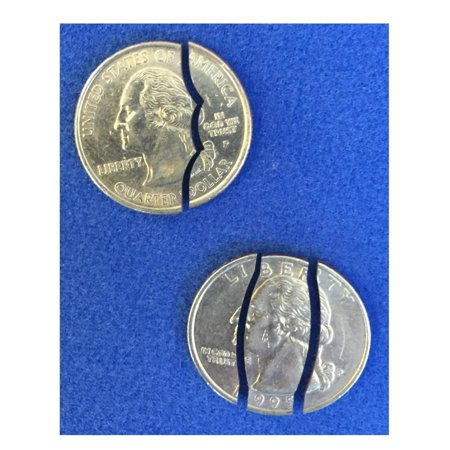 London Magic Works Bite Out Quarter AND Folding Coin - Both Geniuine US Quarters - Two Tricks For All Skill Levels (1 - Coin Tricks