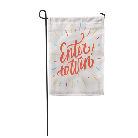 KDAGR Contest Enter to Win Chance Raffle Word Lucky Play Lottery Garden Flag Decorative Flag House Banner 12x18 inch](Il Lottery Halloween Raffle)