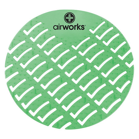 Urinal Screen,Round,Evergreen,PK60 AIR WORKS AWUS005