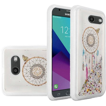 Samsung Galaxy Amp Prime 2/Express Prime 2/J3 (2017) Case, by HR Wireless Quicksand Dream Catcher Glitter PC/TPU Compatible Case - Multi-Color - Halloween Express 2017 Hours