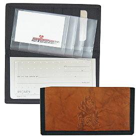 Arizona State Sun Devils Leather/nylon Embossed Checkbook Co