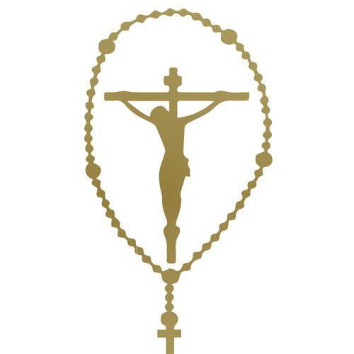 The Decal Guru Rosary Crucifix Wall Decal