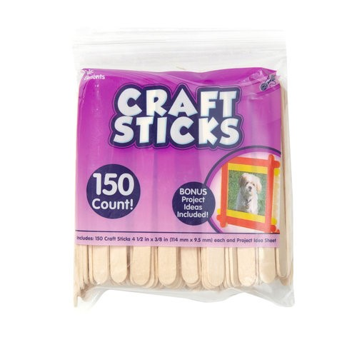 Kids Craft Wooden Craft Sticks, 150 pk