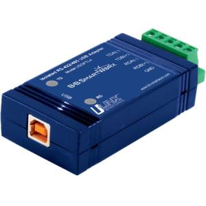 USB TO ISOLATED RS-422/485 WITH PLUG TERM BLACK AND LEDS