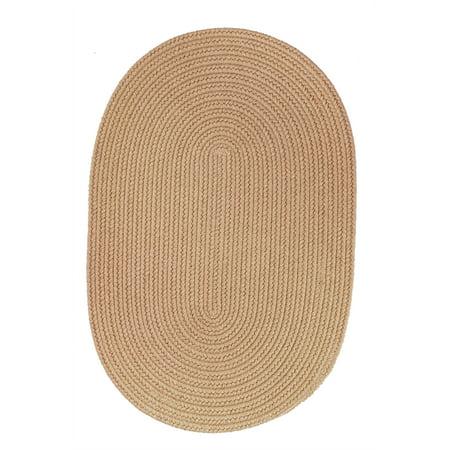 Rhody Rug S101R024X036 Solid 2x3 Wool Rug Wheat