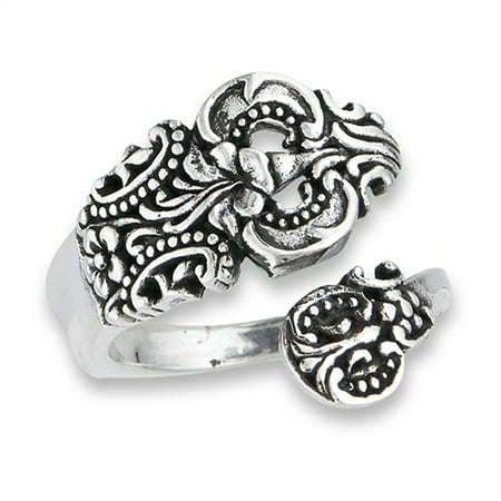 Open Adjustable Celtic Spoon Vintage Ring Sterling Silver Thumb Band Size 8