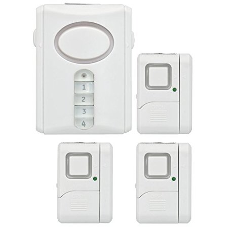 GE Security Wireless Alarm Kit, 1 Deluxe Door and Window/Door Alarms, 51107