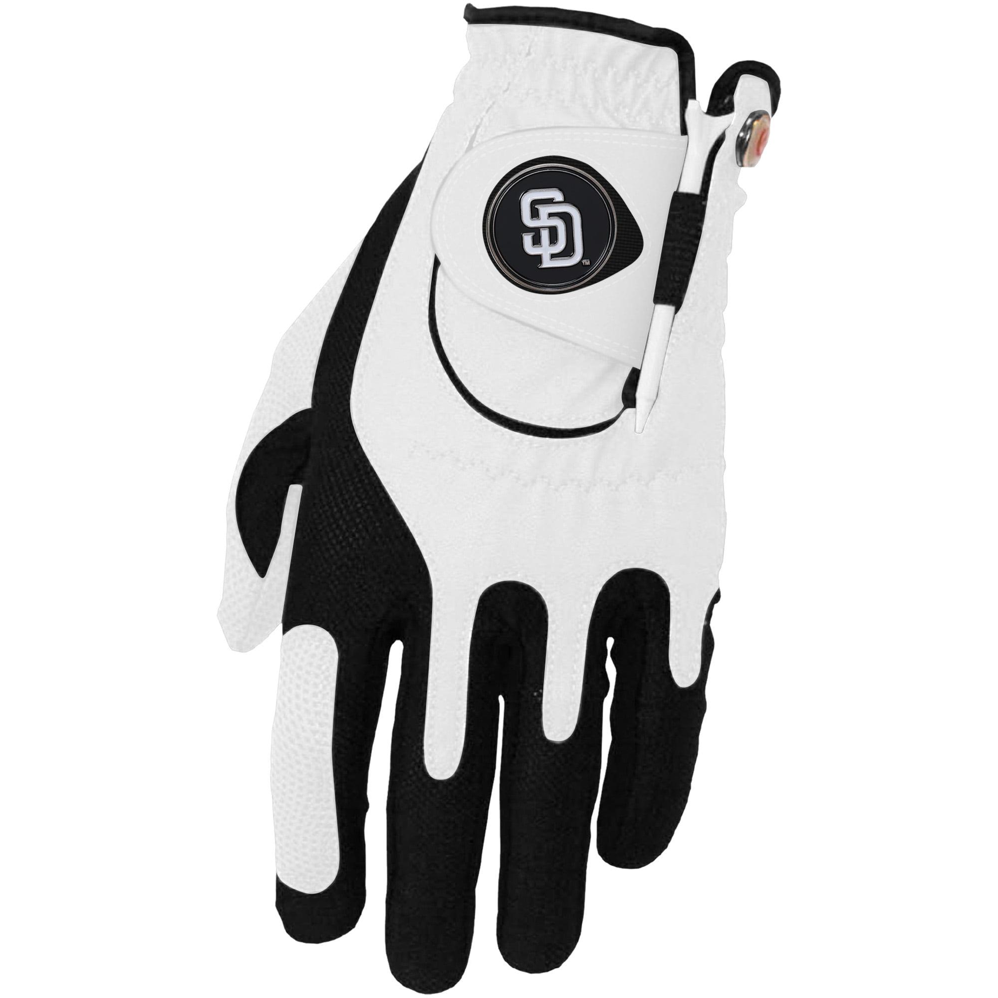 San Diego Padres Left Hand Golf Glove & Ball Marker Set - White - OSFM