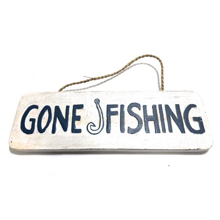 Gone Fishing Sign 40 Beach Decor Ort40 Walmart Delectable Gone Fishing Signs Decor
