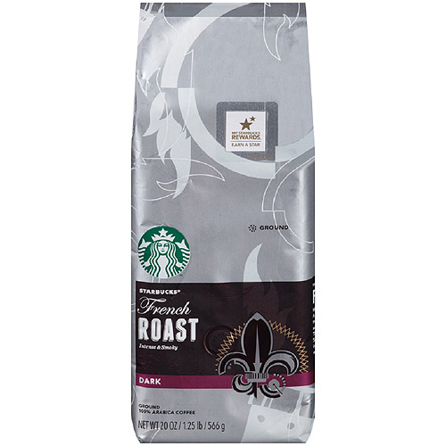 Starbucks French Roast Ground Coffee, 20 oz