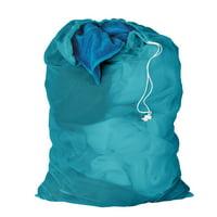 Honey Can Do Mesh Laundry Bag with Draw String, Aqua