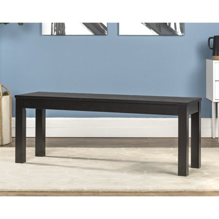 Phenomenal Manor Park Transitional Solid Wood Dining Bench Black Onthecornerstone Fun Painted Chair Ideas Images Onthecornerstoneorg