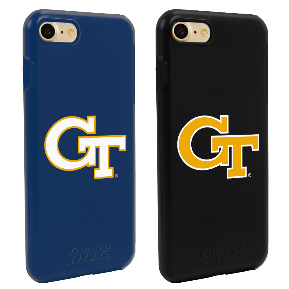 Georgia Tech Yellow Jackets Fan Pack (2 Cases) for iPhone 7/8 with Guard Glass Screen Protector NCAA
