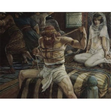 Posterazzi SAL999191 Samson Breaks His Cords James Tissot 1836-1902 French Jewish Museum New York Poster Print - 18 x 24