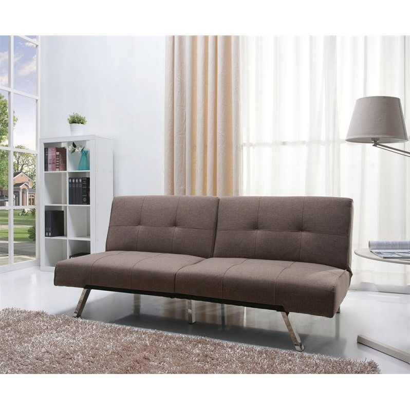 Gold Sparrow Jacksonville Fabric Convertible Sofa in Mocha