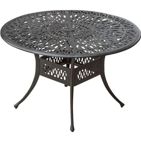 Rosedown 48 Inch Round Cast Aluminum Patio Dining Table By Lakeview Outdoor Designs