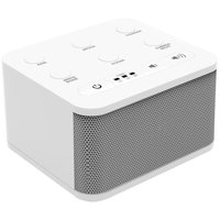 Big Red Rooster White Noise Machine | Sound Machine For Sleeping & Relaxation | 6 Sounds | Plug In Or Battery Powered | Portable Sleep Sound Therapy for Home, Office or Travel