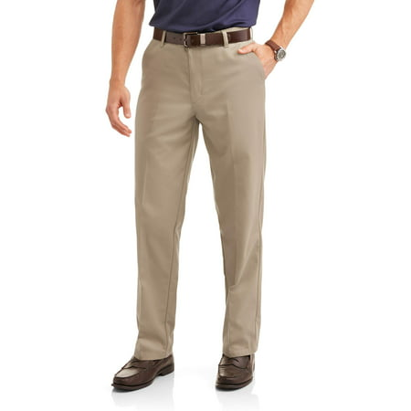 Cotton Wrinkle Free Twill Pant - Big Men's Wrinkle Resistant Flat Front 100% Cotton Twill Pant with Scotchgard