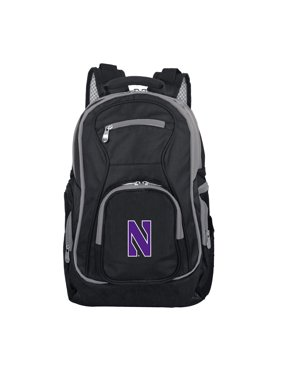NCAA Northwestern Premium Laptop Backpack with Colored Trim