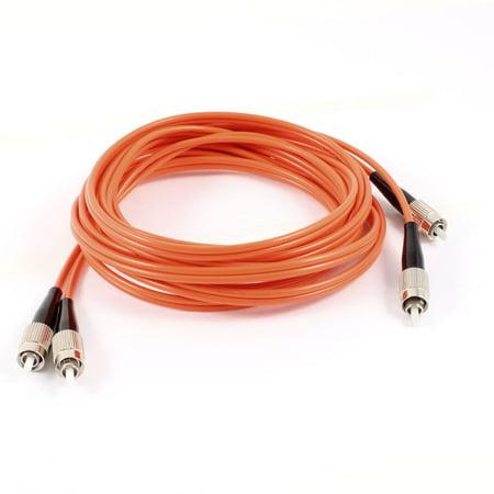 Fc Multimode Duplex Core (Unique Bargains 9.8Ft Long FC/FC Male Duplex Multimode Fiber Optic Patch Cable  Cord Orange )