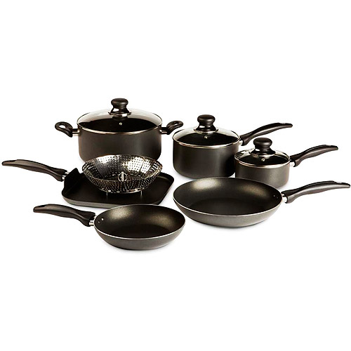 T-fal Basic Non-Stick Easy Care 10-Piece Cookware Set
