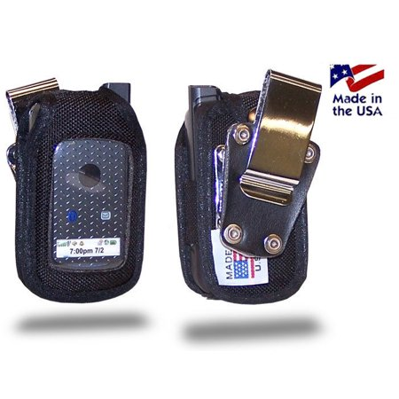 - Turtleback Fitted Case made for Nextel i576 Phone Black Nylon Heavy Duty Rotating Removable Metal Belt Clip Made in USA