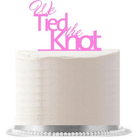 We Tied the Knot Pink Wedding / Engagement Party Elegant Cake Decoration Topper](Tie Dye Cakes)