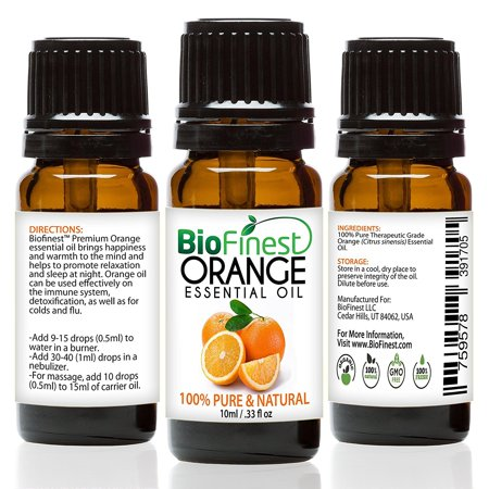 BioFinest Orange Oil - 100% Pure Orange Essential Oil - Premium Organic - Therapeutic Grade - Best For Aromatherapy - Boost Immune System - Mood Lifting - FREE E-Book -