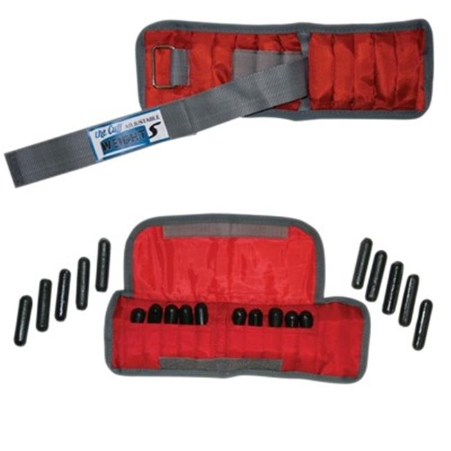 Fabrication Enterprises 10-3341-2 4 lbs Cando Adjustable Wrist Weight, Red - 2 Each