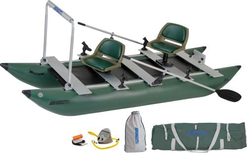 Sea Eagle 375FC FoldCat Inflatable Pontoon Boat Pro Angler Guide Package by Sea Eagle Boats, Inc.