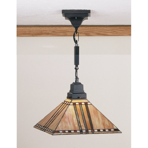 "Meyda Tiffany 49157 1-Light 13"" Wide Pendant with Handmade Shade"
