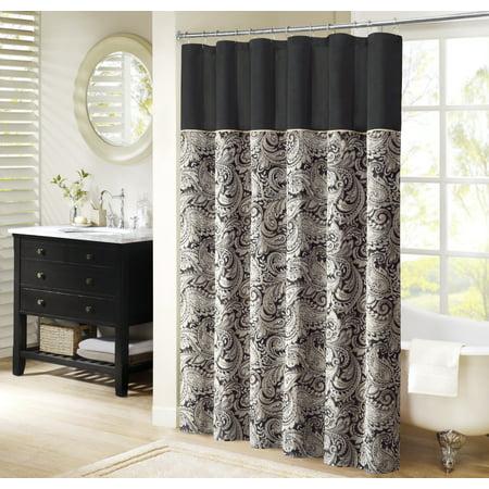 Home Essence Charlotte Jacquard Shower Curtain