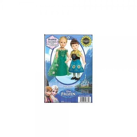 Simplicity S0365 Anna Elsa Frozen Fever Doll Dress Pattern 18
