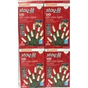 Sylvania Stay-Lit Platinum LED Indoor/Outdoor Christmas String Lights Warm White, 400 ct mini lights