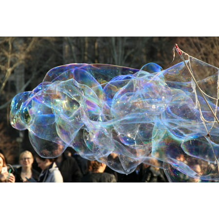 Framed Art For Your Wall Colorful Giant Outdoor Bubble Bubbles Opalescent 10x13 (Opalescent Signed)