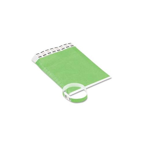 Crowd Management Wristbands, Sequentially Numbered, Green, 500/Pack