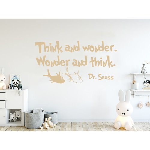 Zoomie Kids Think and Wonder Wall Decal