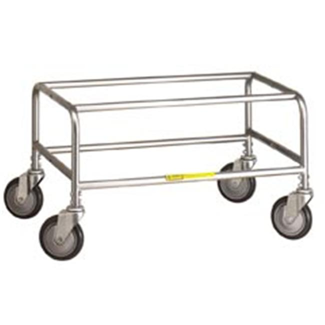 R&B Wire 200C Large Metal Laundry Cart Tubular Base - Chrome