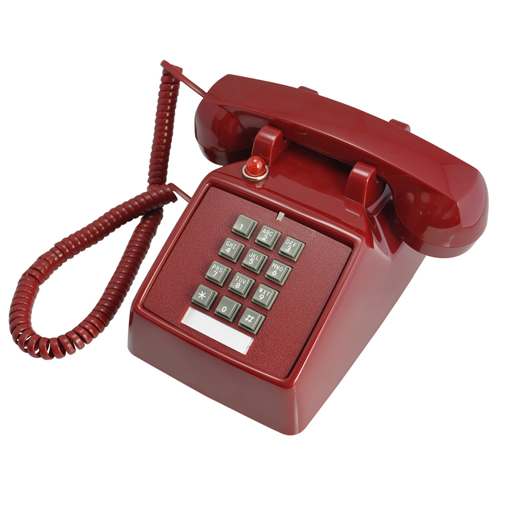 Creative Retro Style Single Line Desk Telephone Decoration For