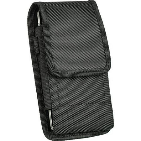 Blackberry Belt Case (Rugged Nylon Vertical Holster Belt Clip Case COMPATIBLE With Otterbox Defender[For Blackberry Classic Q20])