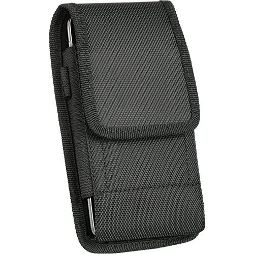 Premium Belt Clip Holster Pouch Leather Case Holder for Cell Phones[OnePlus One,Vertical Nylon]